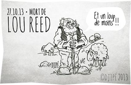 alpes maritimes, brebis, caricature, dessin de presse, dessinateur, Djipé, humour, Lou Reed, loup, mercantour, mort, mouton, politique,