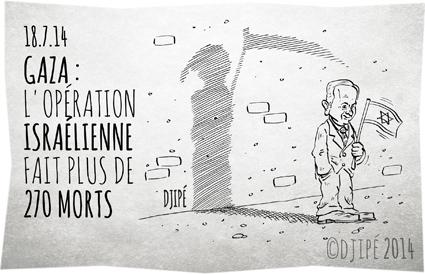 Benyamin Nétanyahou, caricatures, cessez-le-feu, dessin de presse, dessinateur, Djipé, Gaza, guerre, Hamas, humour, humour noir, Israël, morts, opération israélienne, Palestiniens tués, roquette, tsahal,