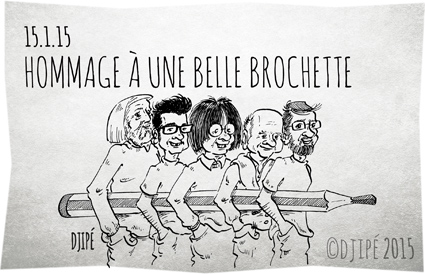 attaque terroriste, Cabu, caricatures, Charb, Charlie Hebdo, dessin de presse, Djipé, Honoré, humour, humour noir, liberté d'expression, presse satirique, terrorisme, Tignous, Wolinski,