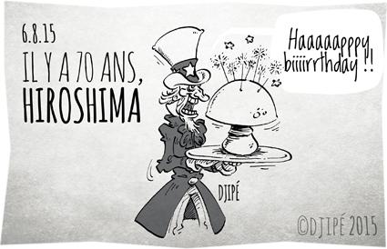 atomic bomb, bombe atomique, caricatures, dessin de presse, dessinateur, Djipé, états unis, Fat Man, guerre mondiale, Hiroshima, humour, humour noir, Japon, Little Boy, Nagasaki, tragédie, uranium enrichi, USA,