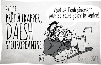 Balkans, caricatures, DAESH, dessin satirique, dessinateur, Djipé, europe, Europol, humour noir, ISIS, jihadiste, Syrie, terrorisme, terroristes, Union européenne,