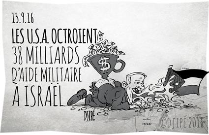 Benyamin Netanyahu, caricatures, dessin de presse, dessin satirique, dessinateur, Djipé, dollars, enfants, états unis, Gaza, guerre, humour noir, Israël, militaire, Palestine,