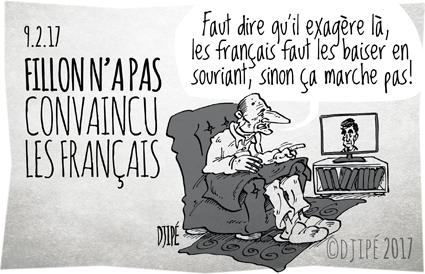 AXA, caricatures, Chirac, dessin de presse, dessin satirique, dessinateur, Djipé, Fillon, fillongate, Français, humour noir, Le Pen, Macron, Penelopegate, présidentielles, sondage,