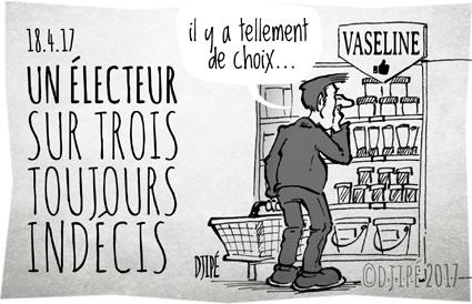 candidat, caricatures, dessin de presse, dessin satirique, dessinateur, Djipé, Fillon, humour noir, Le Pen, Macron, Mélenchon, présidentielle, vaseline,