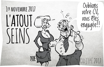 #balancetonporc, #MeToo, caricatures, dessin satirique, dessinateur, Djipé, embauche, harcèlement, humour noir, recrutement, sein, sexisme, sexuel, société, Toussaint, victime,