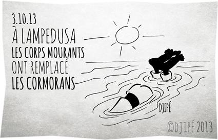 caricature, dessin de presse, dessinateur, Djipé, drame, humour, humour noir, immigration, Lampedusa, migrants, octobre 2013, politique,