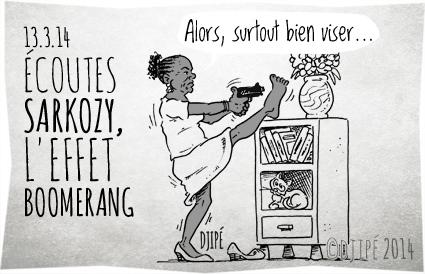 caricatures, Christiane Taubira, dessin de presse, dessinateur, Djipé, Écoutes Sarkozy, effet boomerang, humour, humour noir, Jean-Marc Ayrault, juges, le Monde, Manuel Valls, ministre de la justice, Nicolas Sarkozy, sommet de l'État, Thierry Herzog,