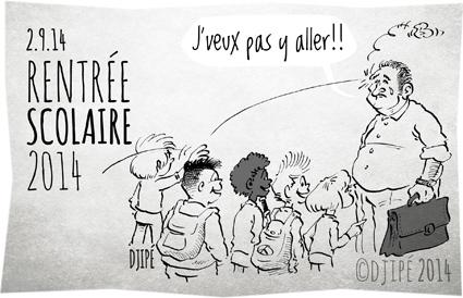 caricatures, dessin de presse, dessinateur, Djipé, école, élève, enseignant, grève, humour, humour noir, prof, rentrée scolaire,