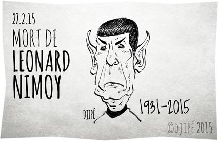 Bonanza, caricatures, dessin de presse, dessinateur, Djipé, humour, humour noir, La Quatrième Dimension, Leonard Nimoy, mission impossible, Perry Mason, Spock, Star Trek,