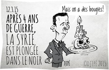 Alep, Bachar el-Assad, caricatures, crime contre l'humanité, dessin de presse, dessinateur, Djipé, génocide, guerre, humour, humour noir, Syrie,