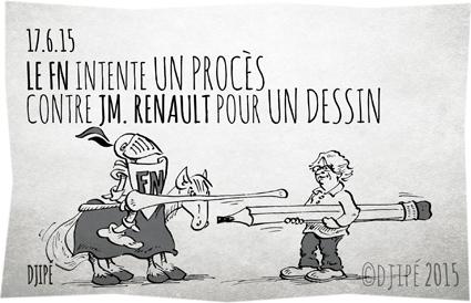 caricatures, dessin de presse, dessin satirique, dessinateur, Djipé, FN, Front national, humour, humour noir, Jean-Michel Renault, JM. Renault, joute, moyen âge, Nord Littoral,