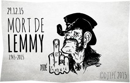 Ace of Spades, caricatures, dead, dessin de presse, dessinateur, Djipé, humour, humour noir, Lemmy Kilmister, Motörhead, R.I.P.,