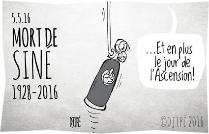 caricatures, caricaturiste, Charlie Hebdo, dessin de presse, dessin satirique, dessinateur, Djipé, humour noir, Maurice Sinet, mort, Siné, Siné Mensuel,