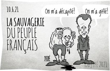 #caricatures, #confinement, #coronavirus, #covid19, #crise, #crisesanitaire, #décapitation, #décapité, #déconfinement, #dessinsatirique, #Djipé, #étatdurgence, #gifle, #gouvernement, #humournoir, #liberté, #louis16, #LouisXVI, #Macron, #masque, #mort, #politique, #restaurants, #révolution, #Santé, #vaccin, #vaccination,